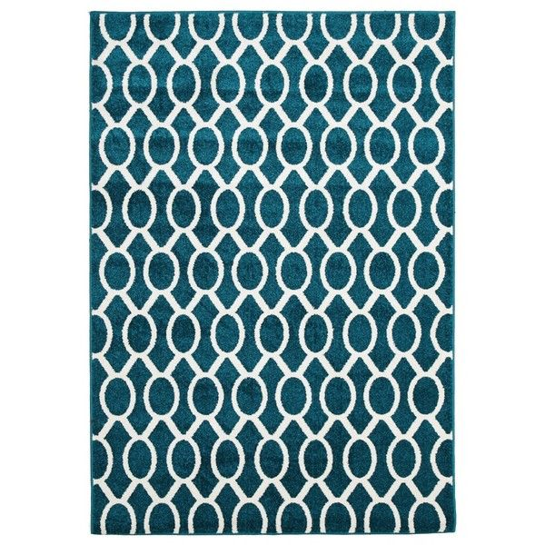 Indoor Outdoor Neo Rug Peacock Blue 240 Liked On Polyvore Featuring Home Rugs Outdoor Rugs Peacock Blue Rug O Contemporary Rug Buying Rugs Online Rugs
