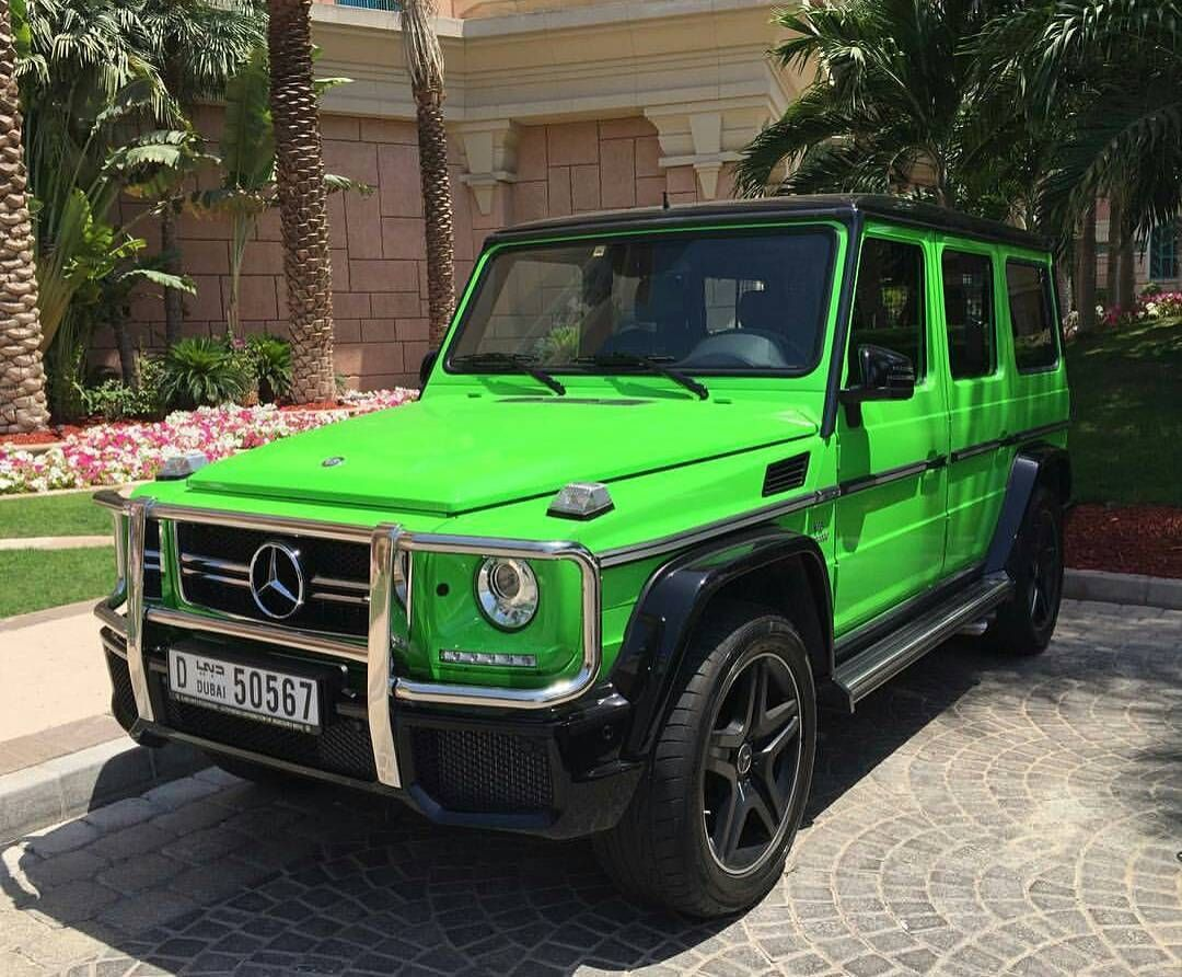 Nice Mercedes Benz G63 Amg In Alien Green Photo By