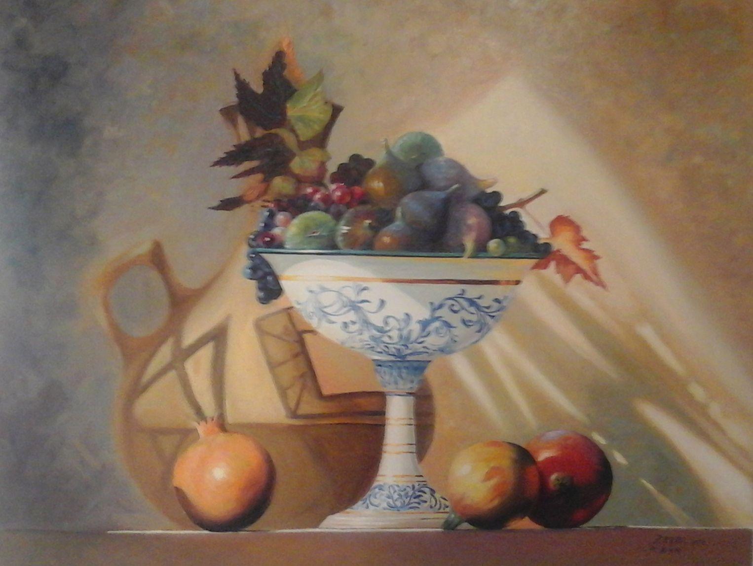 Tableau peinture huile sure toile 0.40 cm