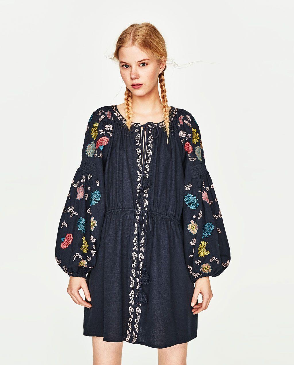 b01f920d Image 2 of SHORT TUNIC DRESS from Zara | Zara wish list in 2019 ...