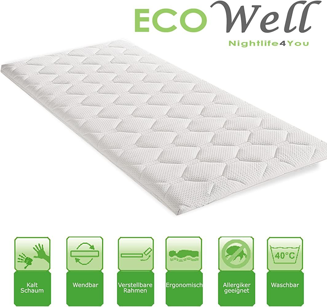 Eco Well Kaltschaum Topper Basic Pik Matratzenauflage Gesteppt 6