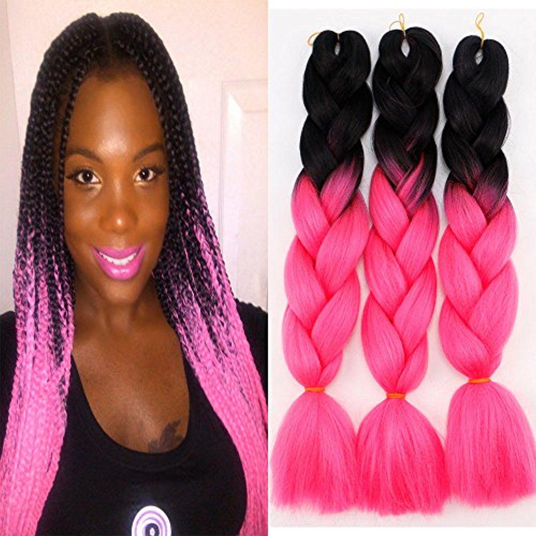 Pcslot ombre kanekalon braiding hair extensions