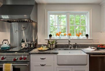 Costa Esmeralda Granite Massachusetts Farm House  Farmhouse Fair Kitchen Design Massachusetts Inspiration
