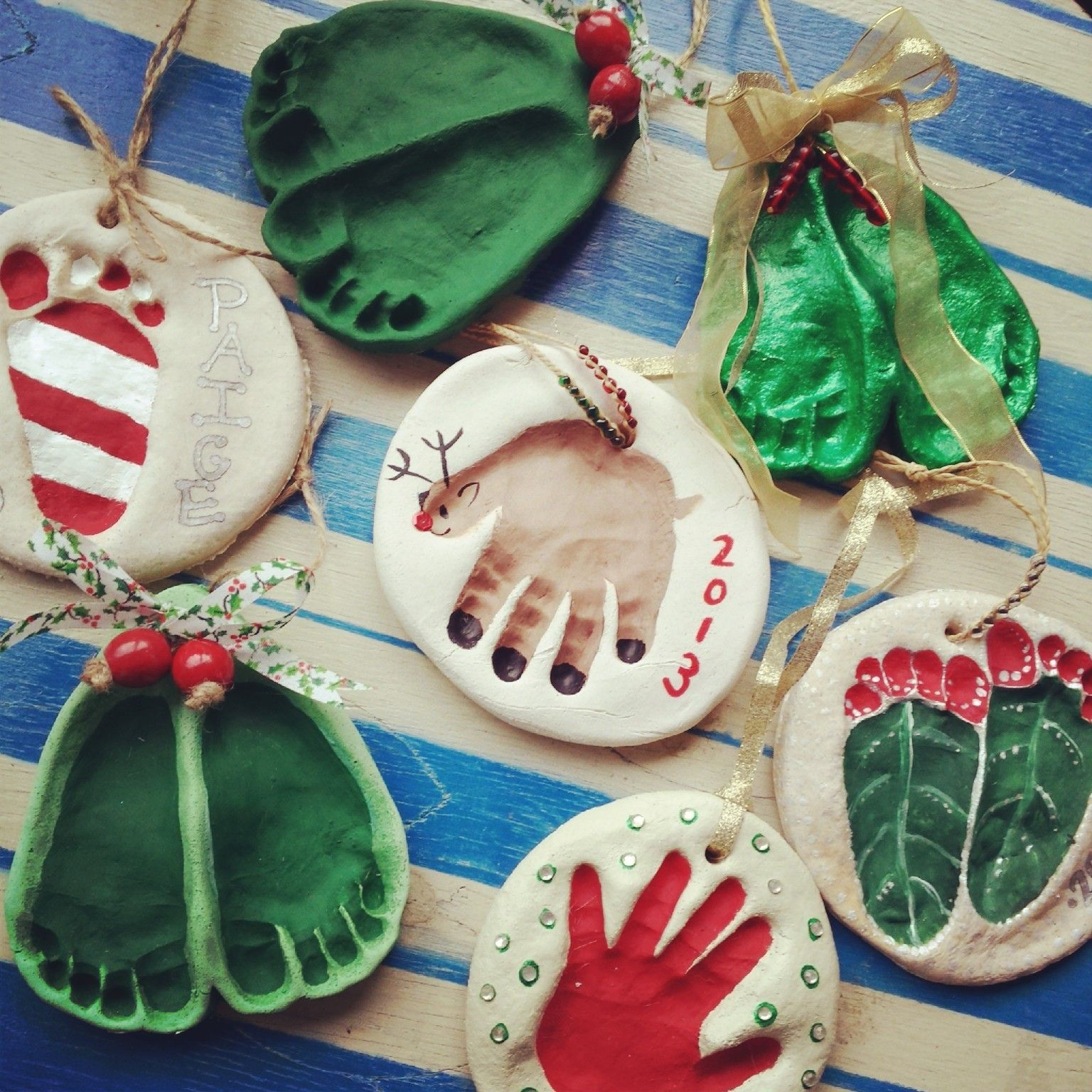Salt Dough Ornaments We Made Today With Paige S Footprints And Handprints Christ Christmas Crafts Christmas Crafts For Kids Handmade Christmas Decorations