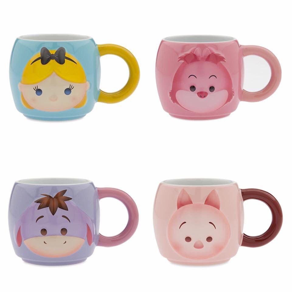 Tsum Tsum Mugs From Disney Store Alice Cheshire Cat Eeyore