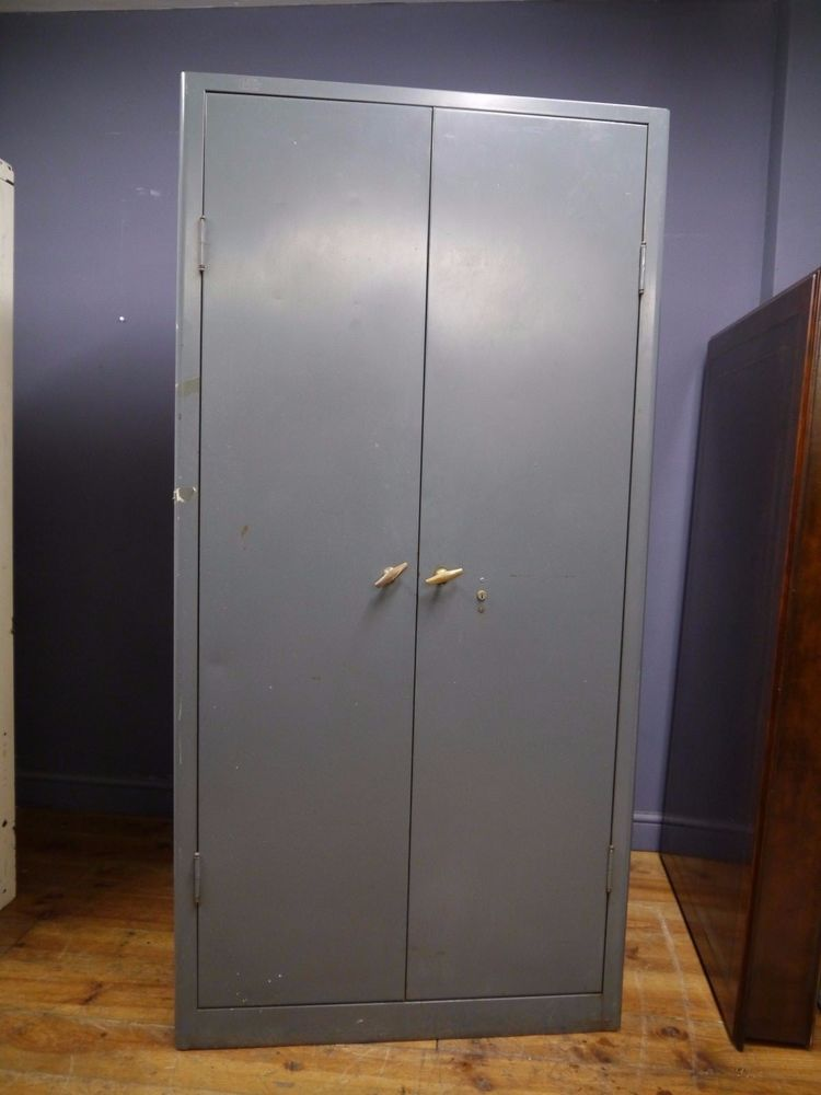Vintage Industrial Large Metal Grey Triumph Storage Cabinet Ebay Wood Storage Cabinets Storage Storage Cabinet