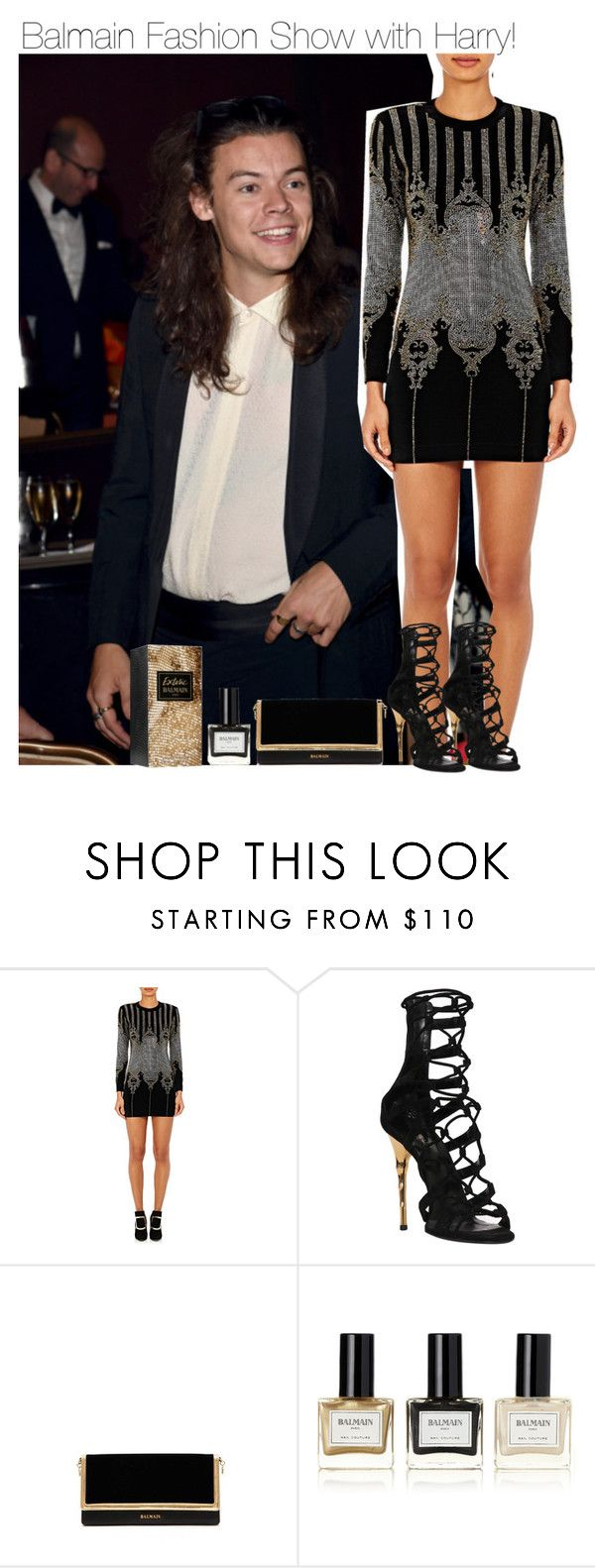 """""""Balmain Fashion Show with Harry!"""" by directionermixer01 ❤ liked on Polyvore featuring Balmain"""