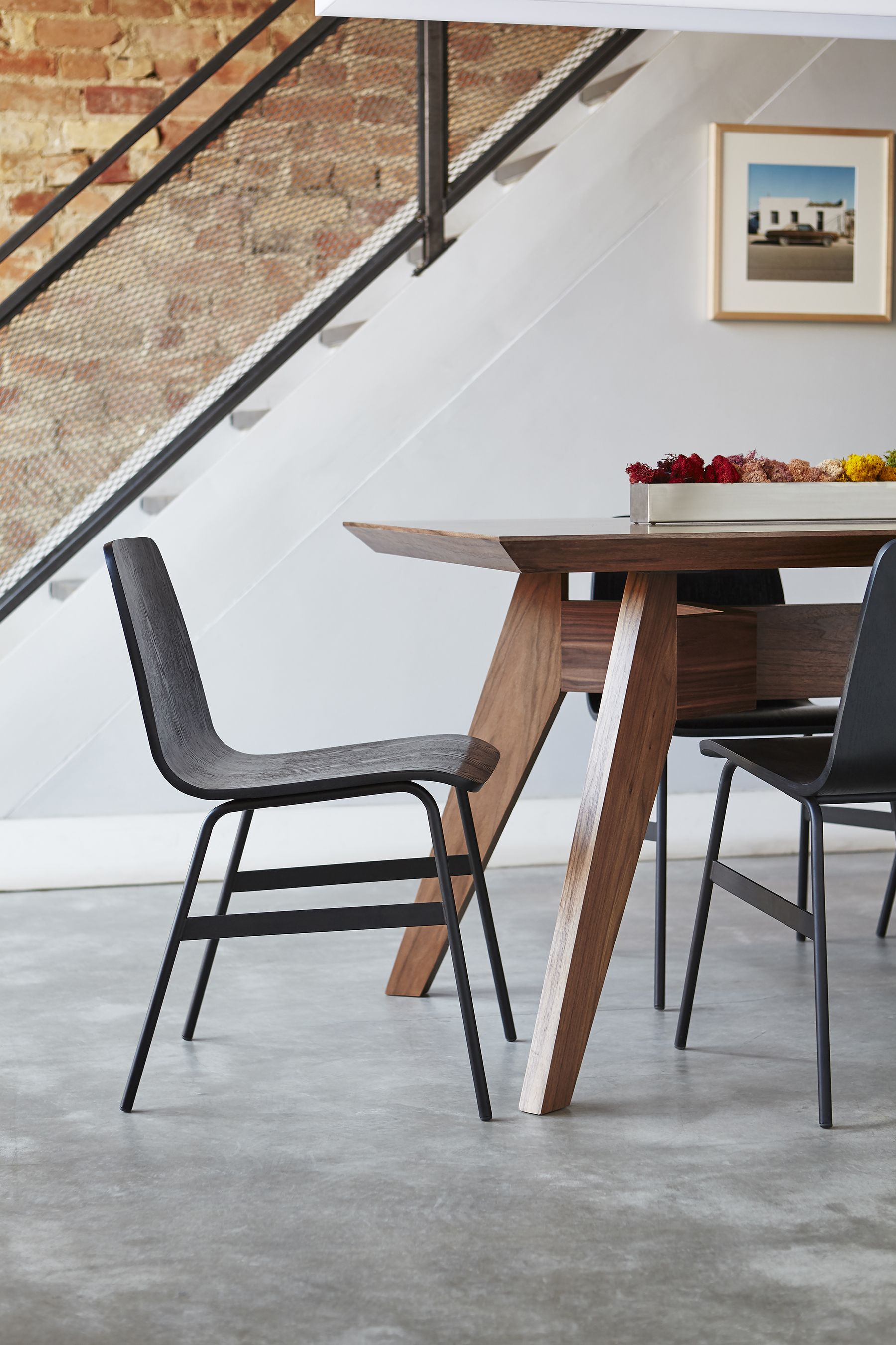 The lecture chair is a modern reinterpretation of a classic elementary school chair design gus modern