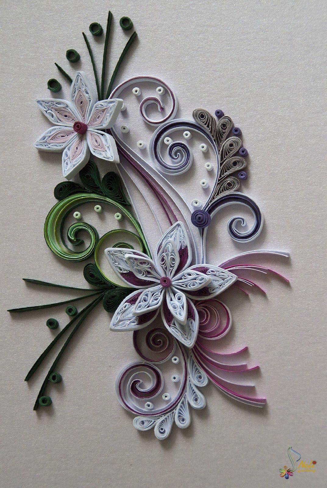 neli quilling art quilling card flowers tablouri pinterest projekte kreative ideen und. Black Bedroom Furniture Sets. Home Design Ideas