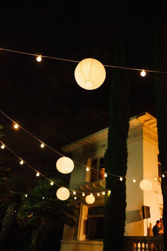 Merritt Mansion, Pasadena   Tracy Dodson Photography #wedding #reception #outdoorwedding #stringlighting #bistrolighting #lantern #canopy #eventlighting #weddinglighting