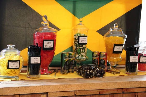 Jamaican Themed Candy Station