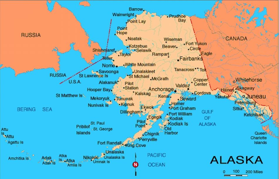 alaska map with cities | Ever wonder exactly where that city ...