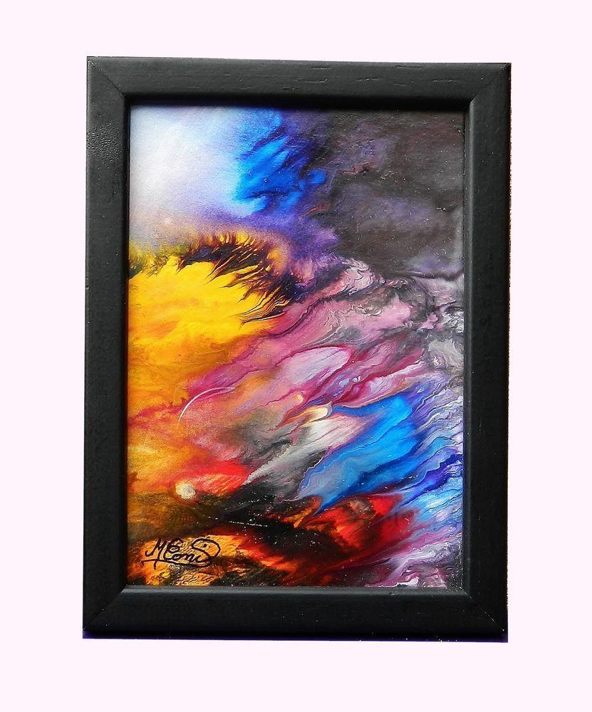 tableau encadr et sous verre abstrait peinture acrylique tempete m conil peintures acryliques. Black Bedroom Furniture Sets. Home Design Ideas