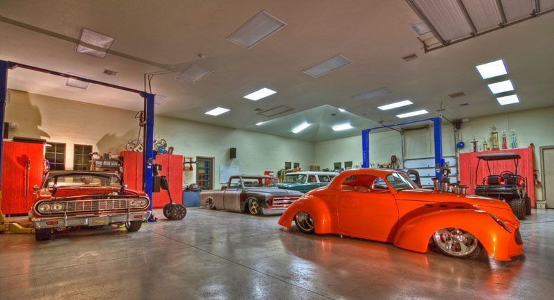 this guy makes more money than me Classic car garage