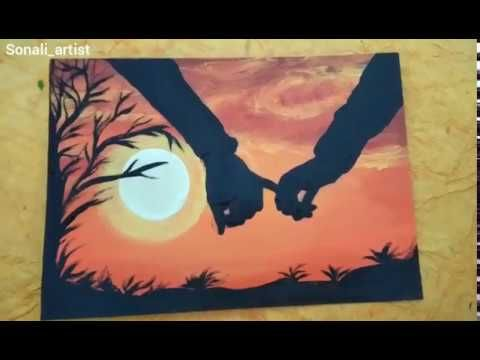 Love couple special easy painting // sonali_artist // painting art
