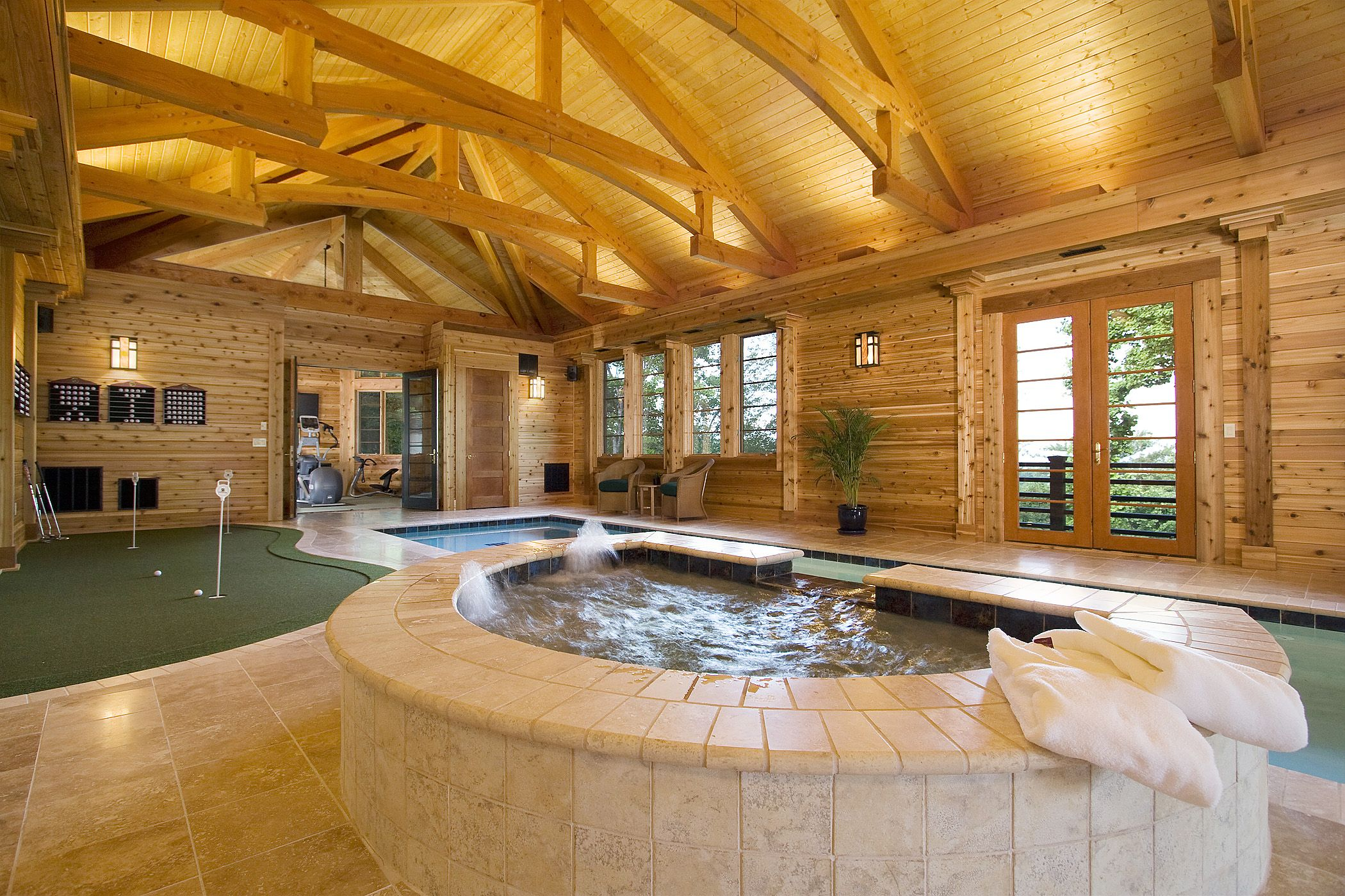 Luxury Homes With Indoor Pools stunning indoor pool timber frame pool house with hot tub, built