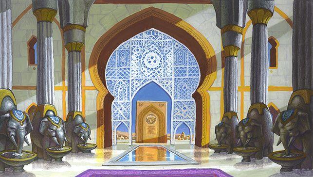 Arabian Palace Exterior Backdrop
