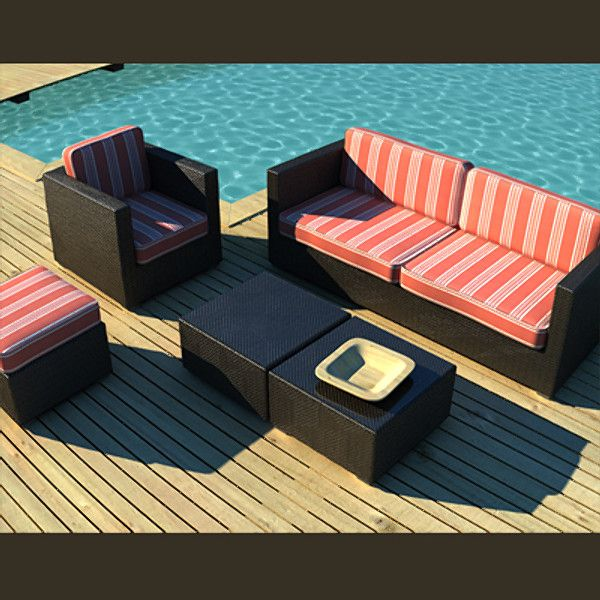 3d model of luxury outdoor furniture garden 3d model - Garden Furniture 3d Model