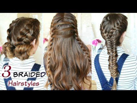 3 Cute Heatless Braided Hairstyles Braid Ideas Braidsandstyles12 Youtube Hair Styles Braided Hairstyles Braided Hairstyles Easy