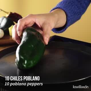 Lasaña de Chile Poblano con Pollo