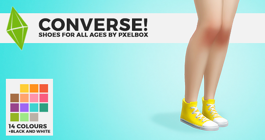 """pxelbox """"CONVERSE! by pxelboxsome simple recolours of the"""