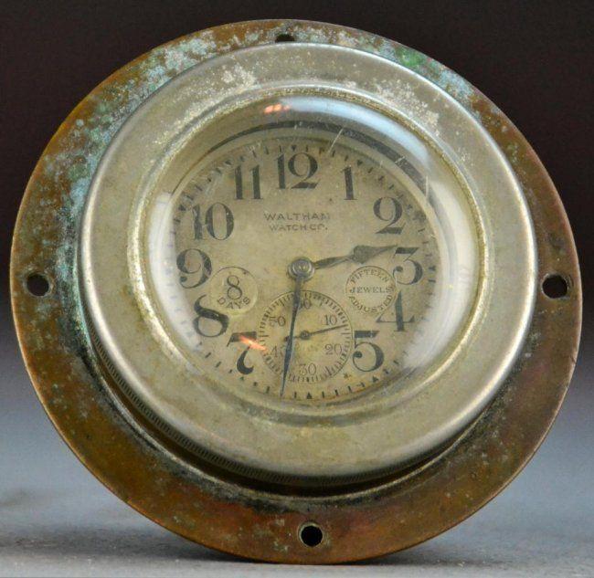 97 Rare American Waltham Watch Co Ships Chronometer