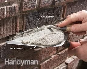 Masonry How to Repair Mortar Joints Bricks Water damage and