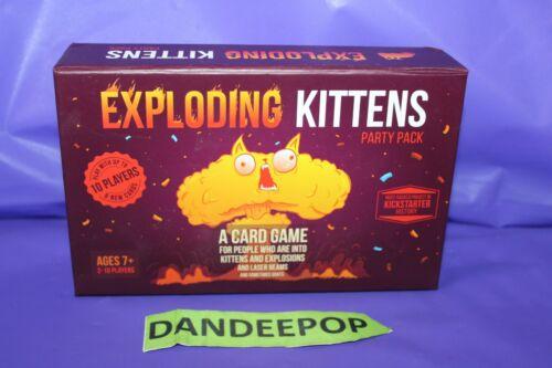 Exploding Kittens Party Pack Original Kickstarter Game Toy Ebay Explodingkittens Partypack Games Toys Kicksta Kitten Party Exploding Kittens Party Packs