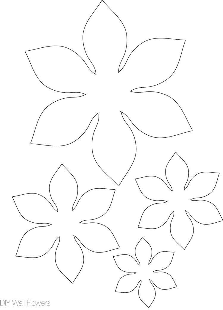Basteln Mit Schablonen Fur Papierbluten Papierblumen Basteln Papierblumen Basteln Vorlagen Blumen Basteln Aus Papier