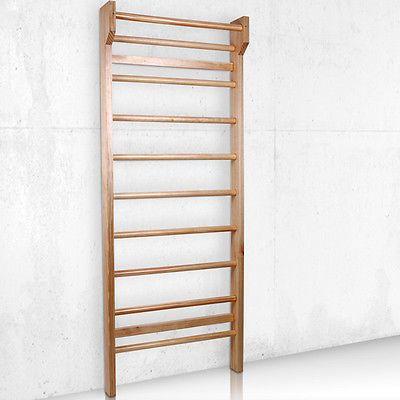 Swedish Ladder Wall Bars Wooden Gymnastic Frame Home Workout Equipment 195x80cm Ebay Wall Bar Home Gym Design Dance Rooms