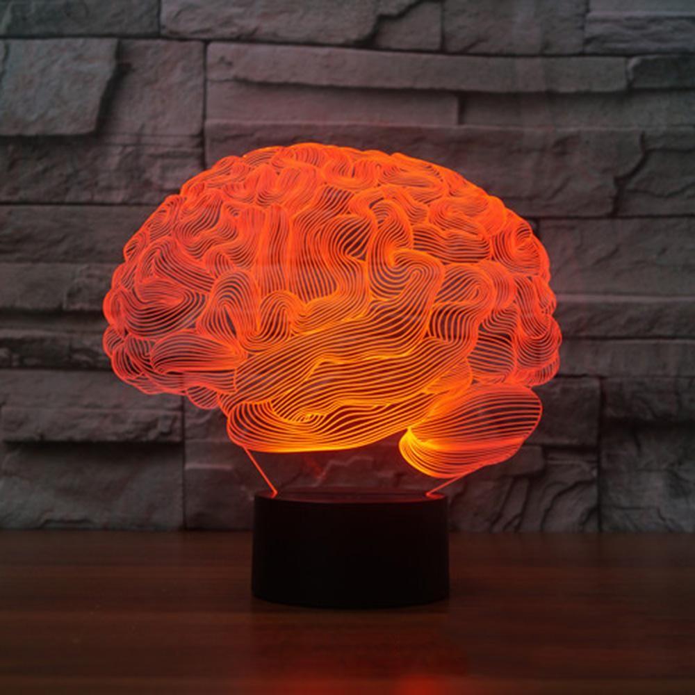 3d Human Brain Illusion Led Lamp Brain Illusions Lamp Illusions