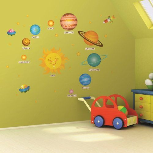 Solar Systems (Childrens) - Mural - Wall Stickers Home Art Deco Wall ...