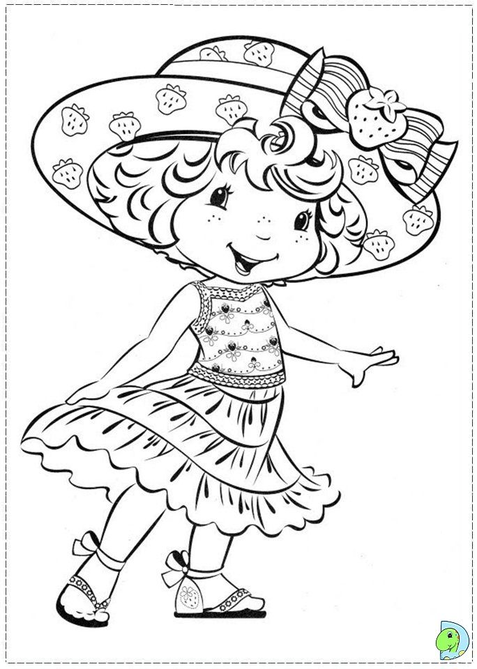 Coloring page | Strawberry shortcake | Pinterest | Colorear, Dibujar ...