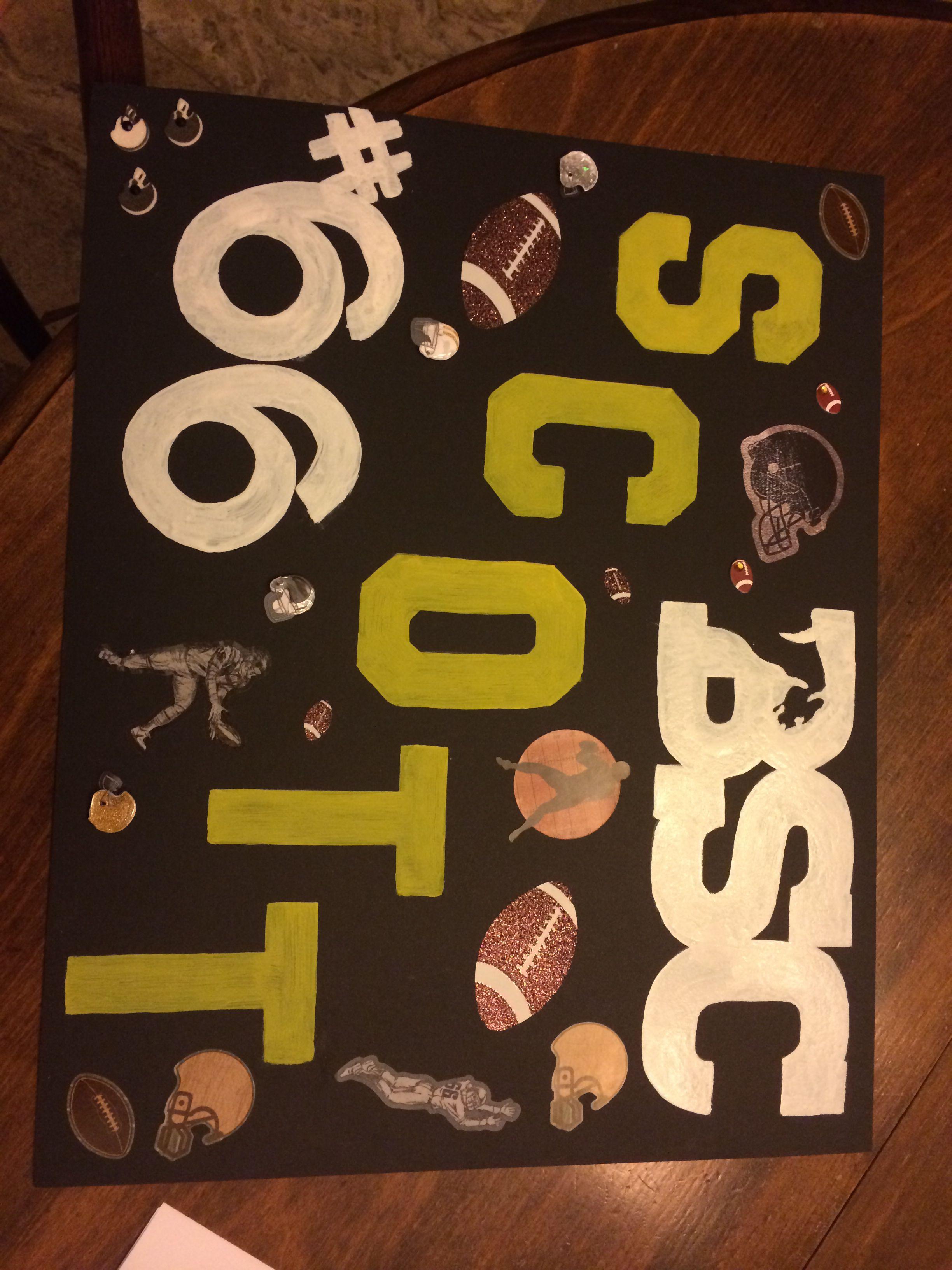 Cute homemade football poster ideas