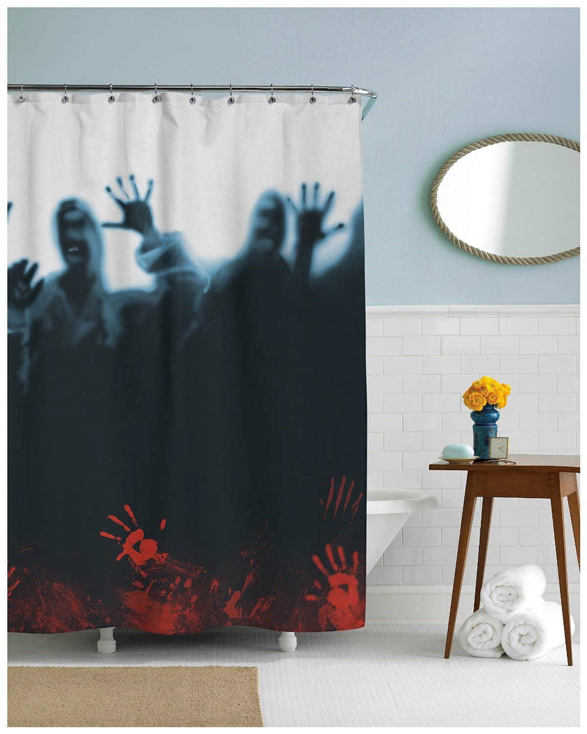24 Horror Inspired Shower Curtains To Creep Up Your Home In 2020