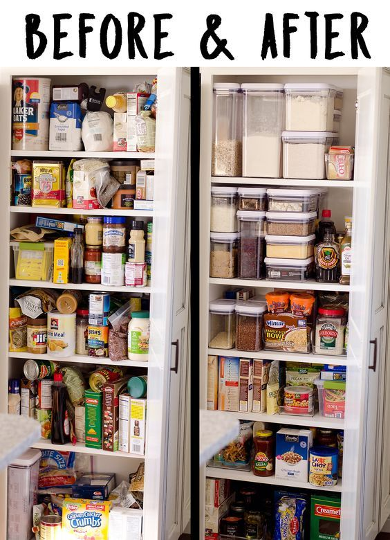 Super easy pantry organization tips and ideas from funcheaporfree.com