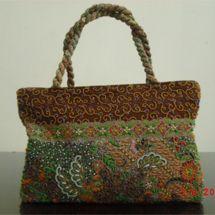 Cute And Unique Handbags Material Indonesian Traditional Cloth Batik