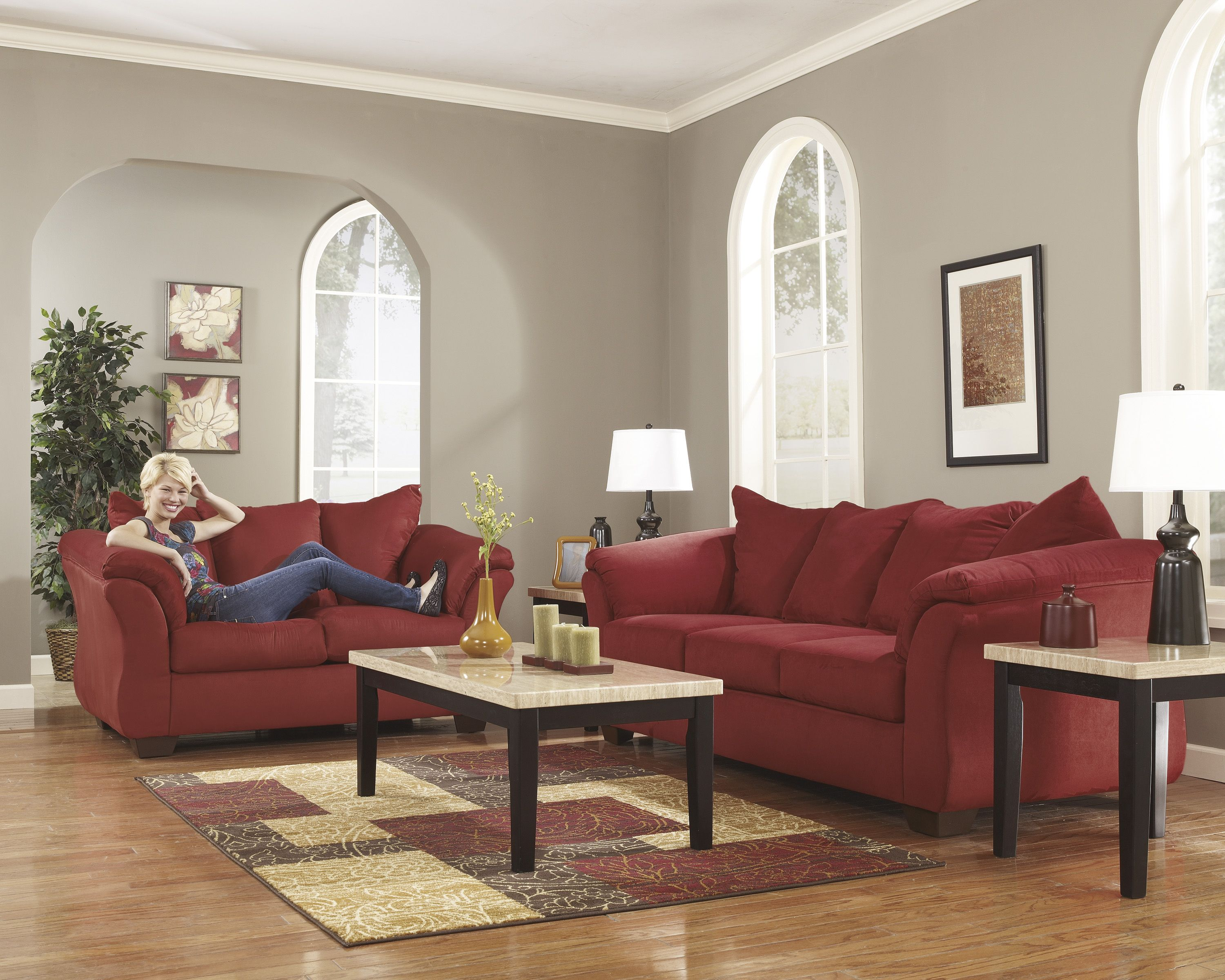 Sofa, Loveseat, 3 Tables, 2 Lamps, 1 Rug o 1 Sectional, 3 Tables ...