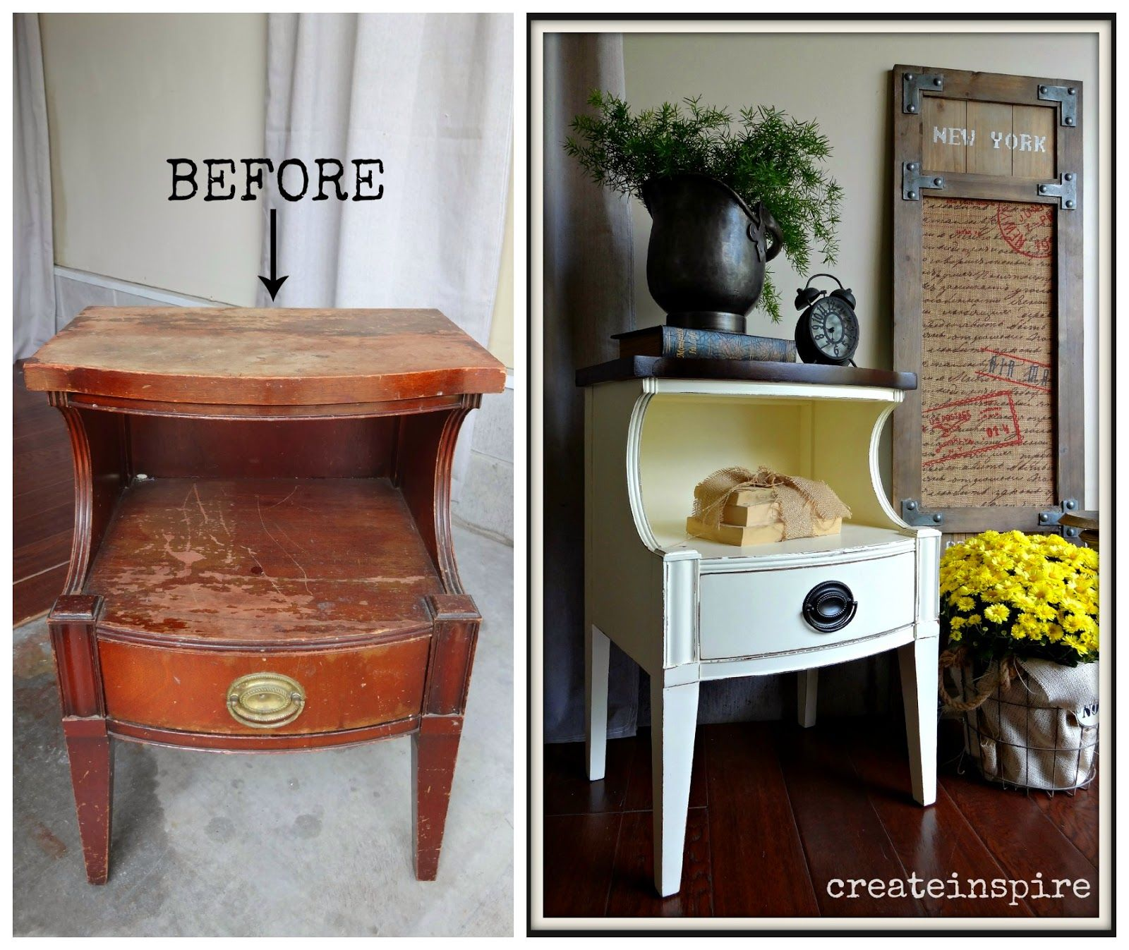 {createinspire}: Drexel Side Table in Creme