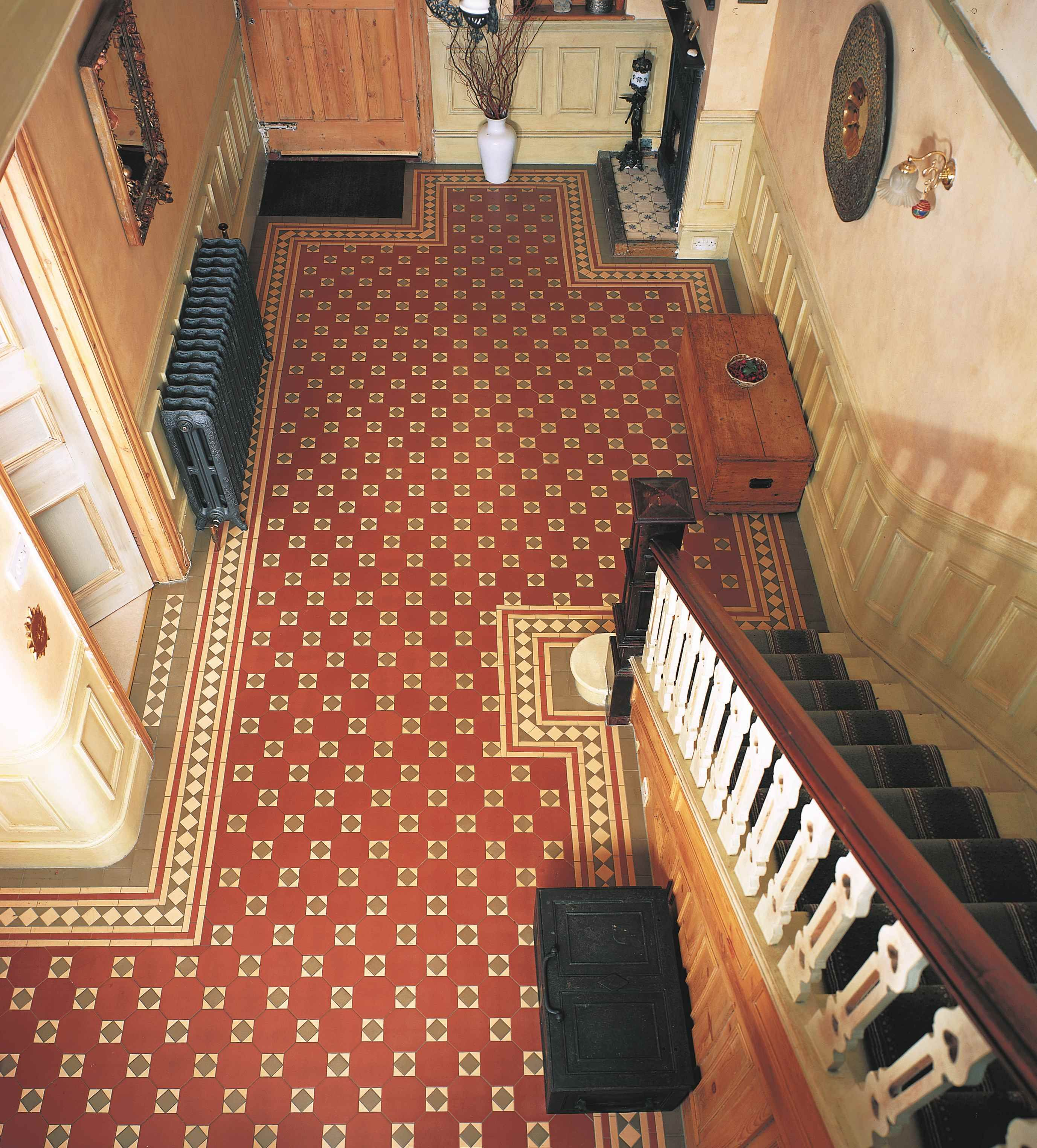 Victorian Floor Tiles The Arundel Pattern Used To Great Effect In