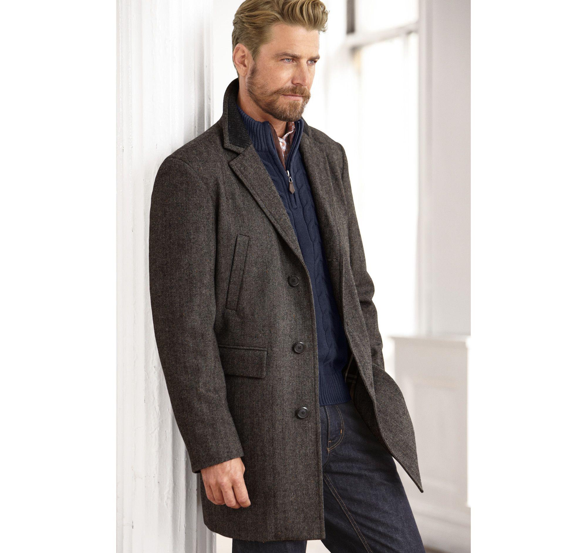 Donegal Herringbone Coat Johnston Murphy Men 39 S