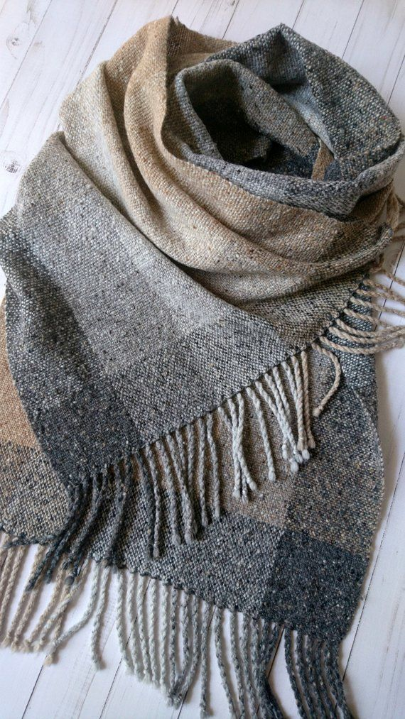 Plaids Checks Stripped Pashmina Silk Scarf Wrap Shawl Soft Classic Tear Fringe