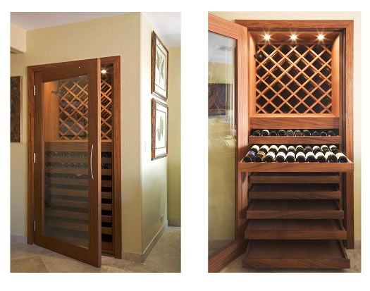 Closet turned wine cellar remodel spaces lounge pour for Turn closet into wine cellar