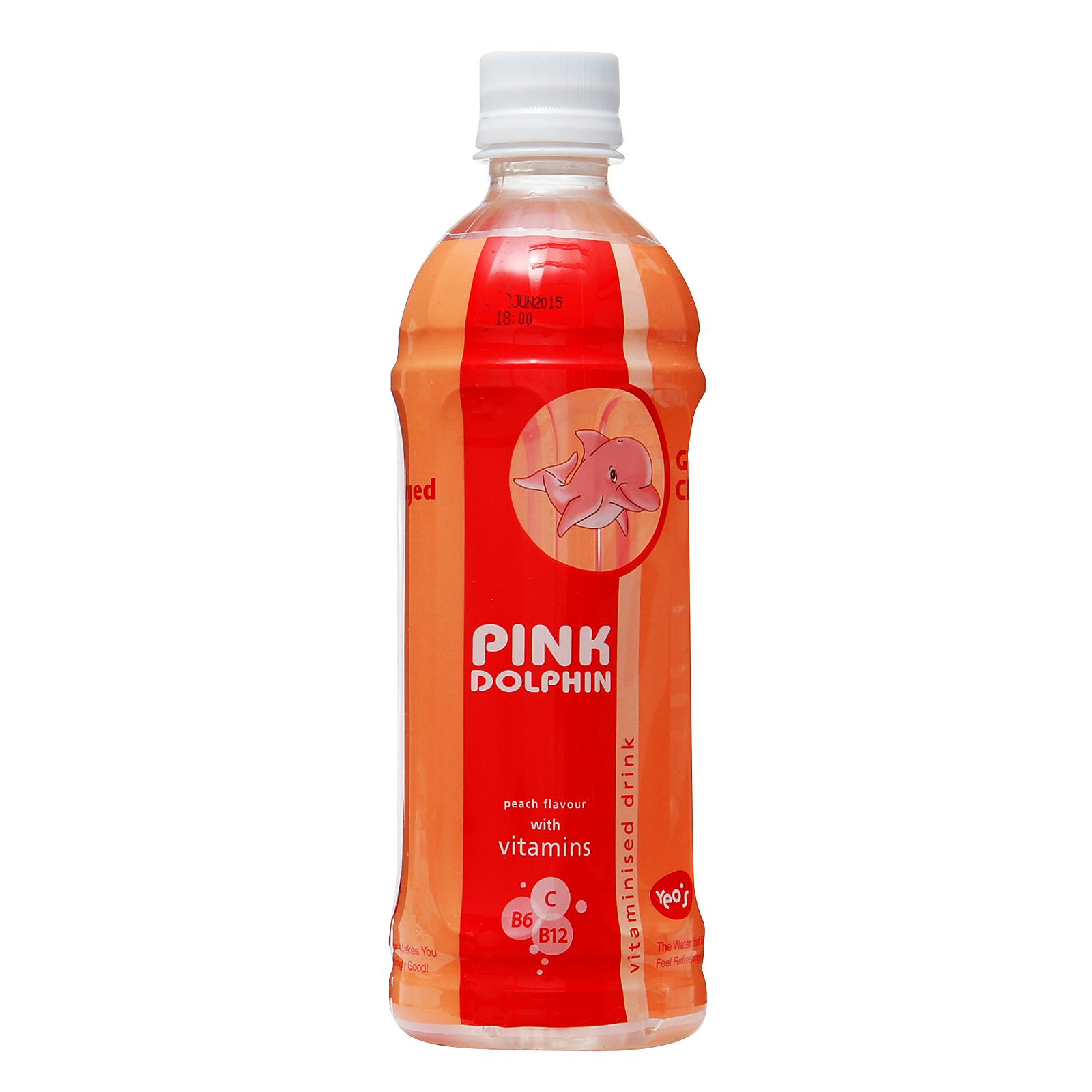Pink Dolphin Peach Flavour Vitaminised Drink 0 55 From Redmart Pink Dolphin Drinks Bottle Packaging
