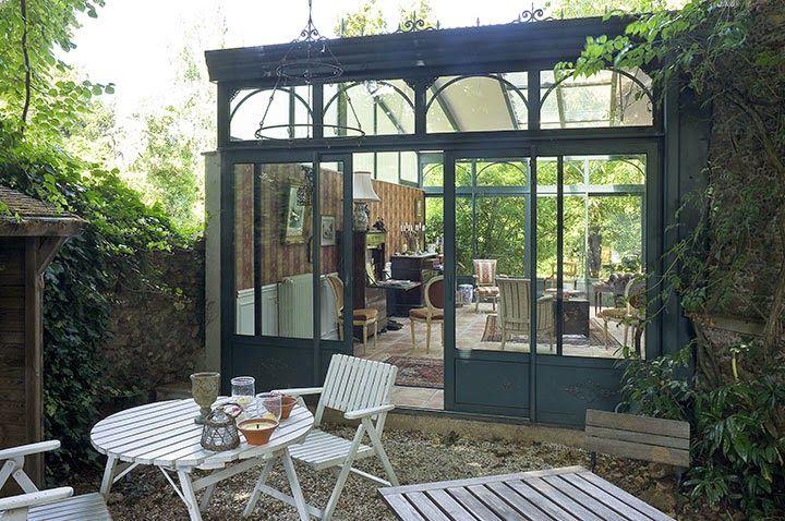 la v randa contemporaine beautiful gardens pinterest pergola garden studio et studio. Black Bedroom Furniture Sets. Home Design Ideas