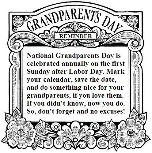 History Of National Grandparents Day Sept Th Celebrate Your