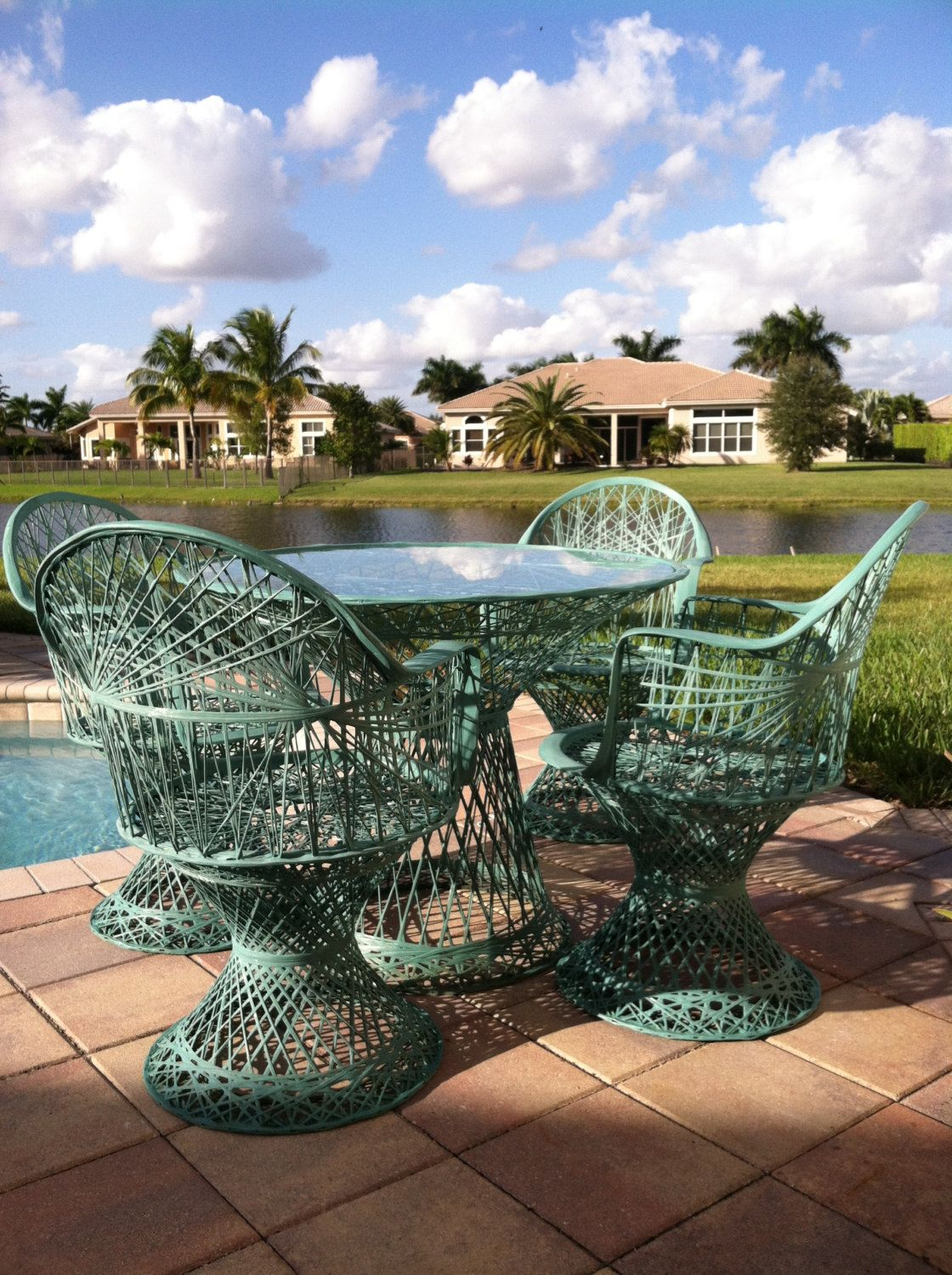 Reserved Naomicouse 5 Piece Spun Fiberglass Patio Set