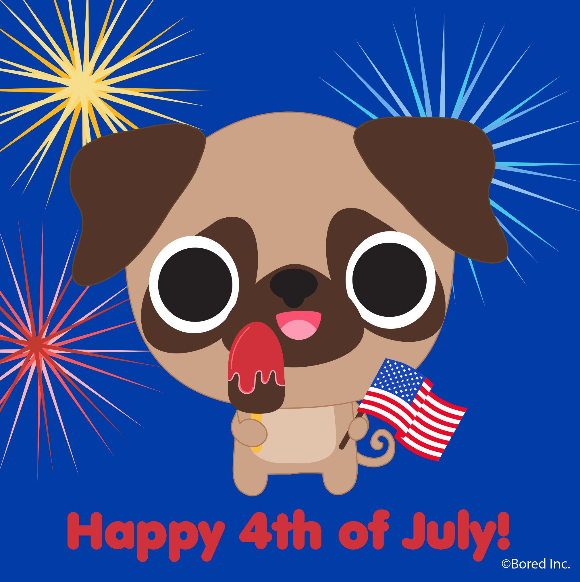 Happy 4th of july boredinc kawaii pug independenceday happy 4th of july boredinc kawaii pug independenceday 4thofjuly kristyandbryce Gallery