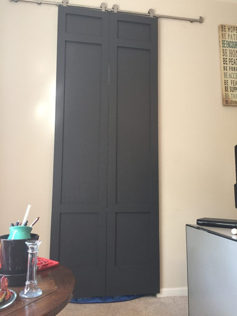 Diy Modern Style Tall Sliding Barn Doors With Pulls Part 2 With Images Tall Cabinet Storage Diy Storage Shelves Diy Door