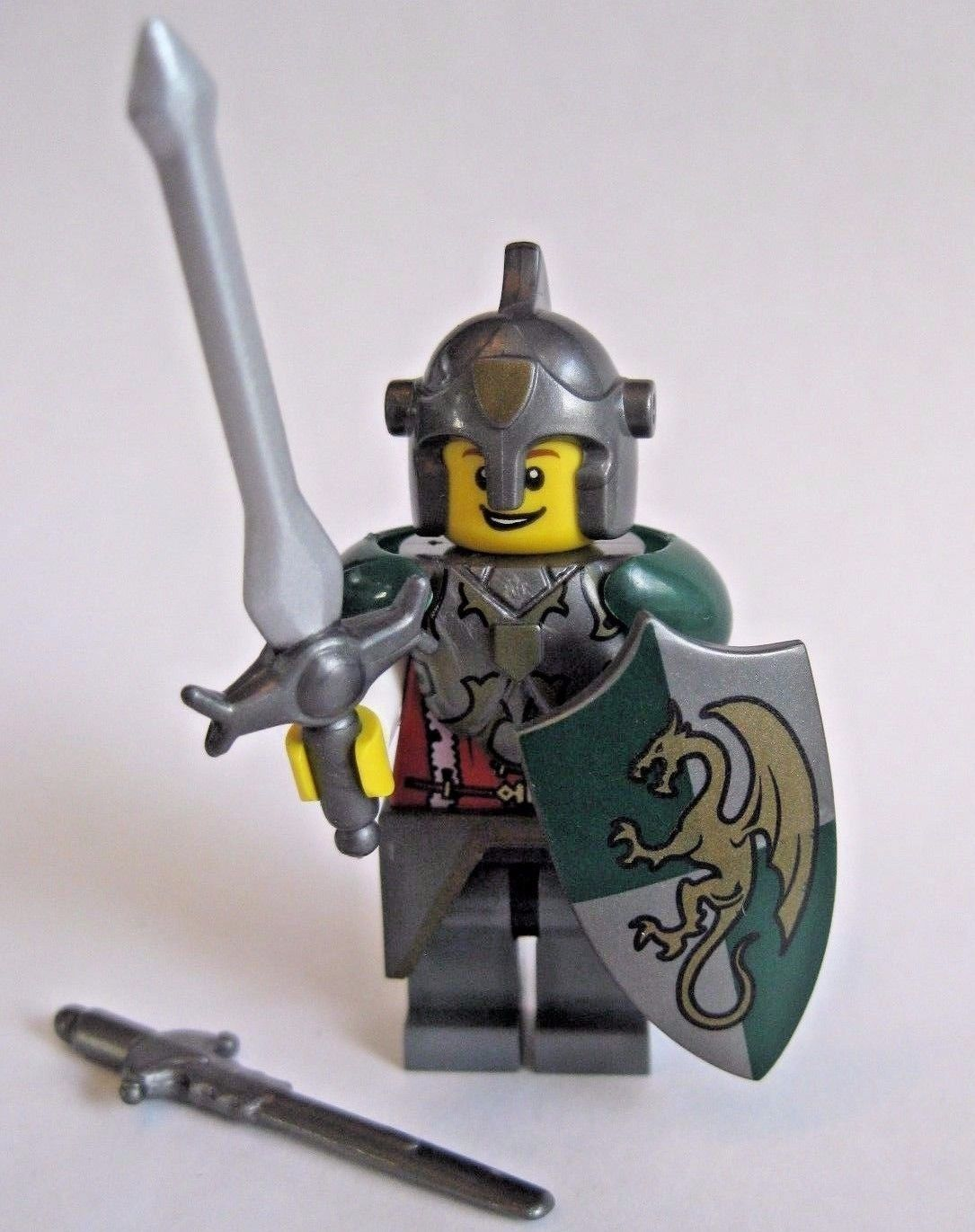 Steel for LEGO Minifigures Custom DWARF WARRIOR Armor//Weapon Pack LOTR
